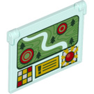 LEGO Glass for Window 1 x 4 x 3 Opening with Decoration (20165 / 60603)