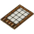 LEGO Glass for Window 1 x 4 x 5 with Brick Border & Metal Frames Decoration (2494)