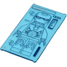 LEGO Glass for Window 1 x 4 x 6 with Iron Man Outline & 'MARK VII' Sticker from Set 76007 (6202)