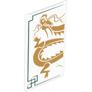 LEGO Glass for Window 1 x 4 x 6 with with Dragon Pattern (6202 / 17764)