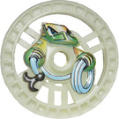 LEGO Glow in the Dark Transparent White Technic Disk 5 x 5 (Rope) (32354)
