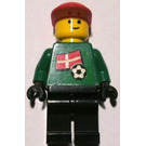 LEGO Goalkeeper with Danish Flag on Front and White Number (1,18,22) on Back Minifigure