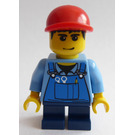LEGO Grand Carousel Boy with Blue Overalls and Red Cap Minifigure