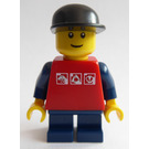 LEGO Grand Carousel Boy with Red Shirt and Black Cap Minifigure