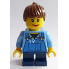 LEGO Grand Carousel Girl with Blue Overalls Minifigure