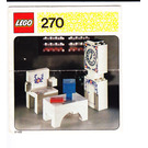 LEGO Grandfather Clock, Chair and Table Set 270-2 Instructions