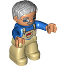 LEGO Grandfather with Tan or White Bib