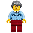 LEGO Grandma with Bright Light Blue Sweater Minifigure
