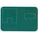 LEGO Green Baseplate 16 x 24 with Rounded Corners with dots from Set 362
