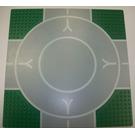 LEGO Green Baseplate 32 x 32 9-Stud Landing Pad with Runway