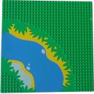 LEGO vert Baseplate avec River et Waterside Décoration
