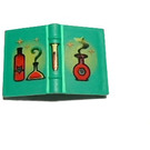 LEGO Green Book 2 x 3 with Red Flask, Bottles and Culture Tube