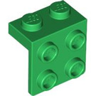 LEGO Green Bracket 1 x 2 - 2 x 2 (21712 / 44728 / 92411)