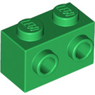 LEGO Green Brick 1 x 2 with Studs on 1 Side (11211)