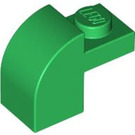 LEGO Green Brick 1 x 2 x 1.33 with Curved Top (6091)