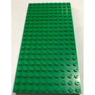 LEGO Green Brick 10 x 20 with Bottom Tubes in single row around edge, with dual '+' Cross Supports