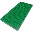 """LEGO Green Brick 10 x 20 with Edge Bottom Tubes and """" """" Cross Support"""