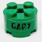 LEGO vert Brique 2 x 2 Rond avec Autocollant from Set 3834