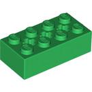 LEGO Green Brick 2 x 4 with Cross Hole (39789)