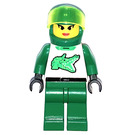 LEGO Green Buggy Female Racer Minifigure