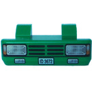 LEGO Green Car Grille 2 x 6 with Two Pins with Headlights and 'ID 3672'