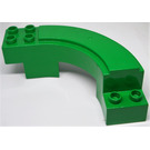 LEGO Green Duplo Curved Road Section 6 x 7 x 2 (31205)