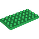 LEGO Green Duplo Plate 4 x 8 (4672)