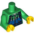 LEGO Green Hiker Minifig Torso (88585)