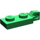 LEGO Green Hinge Plate 1 x 2 Locking with Single Finger on End Vertical with Bottom Groove (44301)