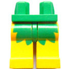 LEGO Green Minifigure Hips with Yellow Legs with Decoration