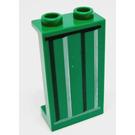 LEGO vert Panneau 1 x 2 x 3 avec Autocollant from Set 9486 avec supports latéraux - goujons creux