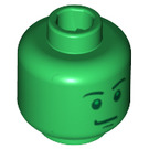 LEGO Green Plain Head with Decoration (Safety Stud) (88831)