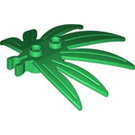 LEGO Green Plant Leaves 6 x 5 Swordleaf with Clip (Gap in Clip) (30239)