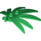 LEGO Green Plant Leaves 6 x 5 Swordleaf with Clip (Open 'O' Clip) (10884 / 42949)