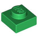 LEGO Green Plate 1 x 1 (3024)