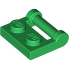 LEGO Green Plate 1 x 2 with Handle (Closed Ends) (48336)