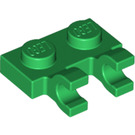 LEGO Green Plate 1 x 2 with Horizontal Clips (flat fronted clips) (60470)