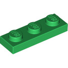 LEGO Green Plate 1 x 3 (3623)