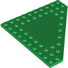 LEGO Green Plate 10 x 10 without Corner without Studs in Center (92584)