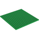 LEGO Green Plate 16 x 16 with Underside Ribs (91405)