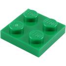 LEGO Green Plate 2 x 2 (3022)