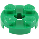 LEGO Green Plate 2 x 2 Round with Axle Hole (with '+' Axle Hole) (4032)
