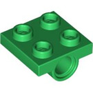 LEGO Green Plate 2 x 2 with Hole without Underneath Cross Support (2444)