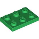 LEGO Green Plate 2 x 3 (3021)