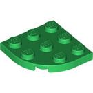 LEGO Green Plate 3 x 3 Round Corner (30357)