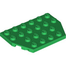 LEGO Green Plate 4 x 6 without Corners (32059 / 88165)