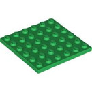 LEGO Green Plate 6 x 6 (3958)