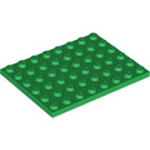 LEGO Green Plate 6 x 8 (3036)