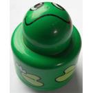 LEGO Green Primo Round Rattle 1 x 1 Brick with Frog Pattern