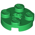 LEGO Green Round Plate 2 x 2 with Axle Hole (with 'X' Axle Hole) (4032)